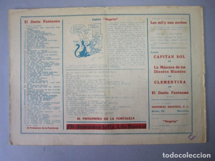 Tebeos: JINETE FANTASMA, EL (1947, GRAFIDEA) -EL CABALLERO FANTASMA- 63 · 1947 · EL PASADIZO DE LA MUERTE - Foto 2 - 155874346