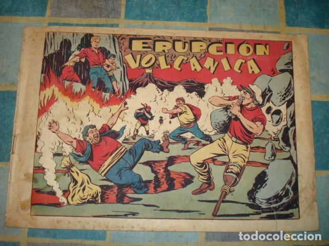 CHISPITA, 4ª AVENTURA Nº 17: ERUPCIÓN VOLCANICA, 1953, GRAFIDEA, SEÑALES DE USO (Tebeos y Comics - Grafidea - Chispita)