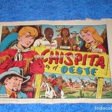 Giornalini: CHISPITA 2ª SEGUNDA AVENTURA Nº 1 TEBEO ORIGINAL 1952 CHISPITA EN EL OESTE EDITORIAL GRAFIDEA LEER !. Lote 161570098