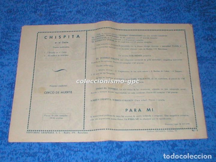Tebeos: CHISPITA 2ª SEGUNDA AVENTURA nº 4 TEBEO ORIGINAL 1952 MENSAJERO DE PAZ Editorial GRAFIDEA Raro Mira - Foto 2 - 161589358