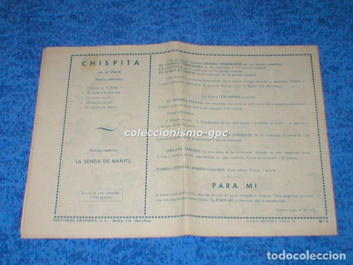 Tebeos: CHISPITA 2ª SEGUNDA AVENTURA nº 5 TEBEO ORIGINAL 1952 EL CABALLO DE HIERRO Editorial GRAFIDEA Mira ! - Foto 2 - 161677462
