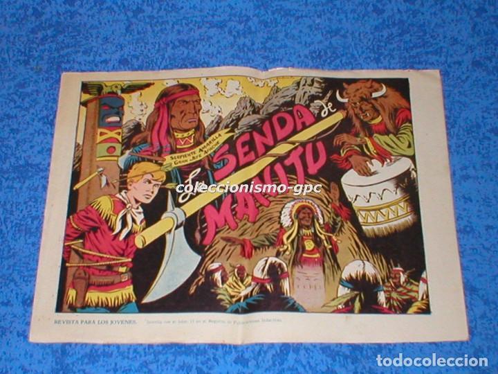 CHISPITA 2ª SEGUNDA AVENTURA Nº 6 TEBEO ORIGINAL 1952 LA SENDA DE MANITU EDITORIAL GRAFIDEA MIRA ! (Tebeos y Comics - Grafidea - Chispita)