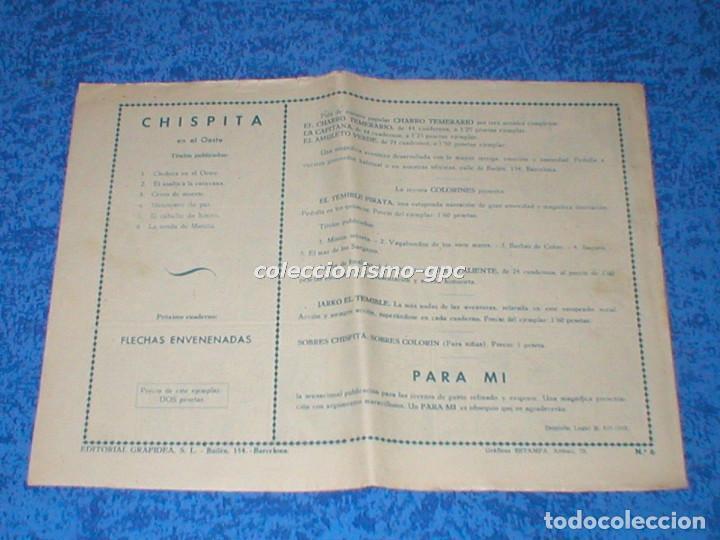 Tebeos: CHISPITA 2ª SEGUNDA AVENTURA nº 6 TEBEO ORIGINAL 1952 LA SENDA DE MANITU Editorial GRAFIDEA Mira ! - Foto 2 - 161678758