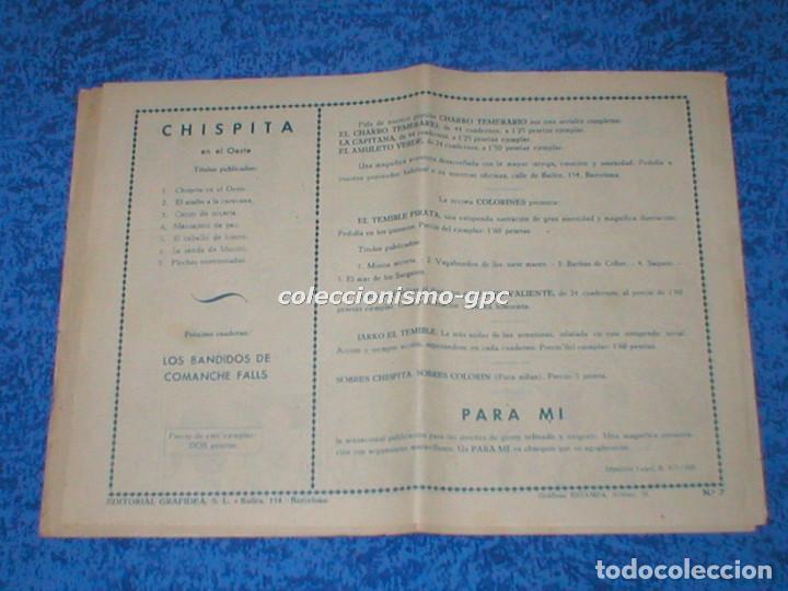 Tebeos: CHISPITA 2ª SEGUNDA AVENTURA nº 7 TEBEO ORIGINAL 1952 FLECHAS ENVENENADAS Editorial GRAFIDEA Mira !! - Foto 2 - 161680350