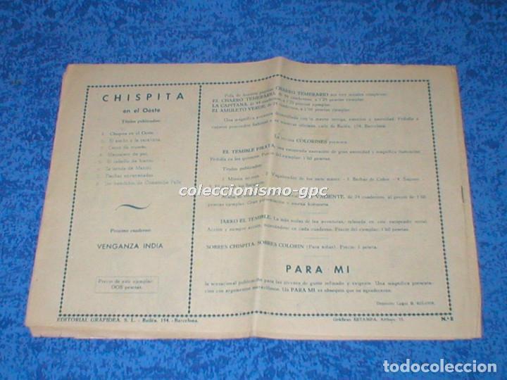 Tebeos: CHISPITA 2ª SEGUNDA AVENTURA nº 8 TEBEO ORIGINAL 1952 LOS BANDIDOS DE COMANCHE FALLS Edit. GRAFIDEA - Foto 2 - 161705126