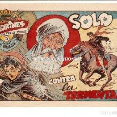 Tebeos: COLORINES SERIE LUIS VALIENTE Nº 12 TEBEO ORIGINAL 1957 SOLO CONTRA LA TORMENTA EDIORIAL GRAFIDEA. Lote 163586474