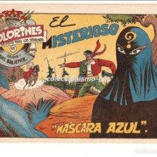 Tebeos: COLORINES SERIE LUIS VALIENTE Nº 11 TEBEO ORIGINAL 1957 EL MISTERIOSO MASCARA AZUL EDIORIAL GRAFIDEA. Lote 163587130