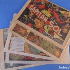 Tebeos: EL CAPITAN SOL LOTE DE 5 NUMEROS ORIGINALES EDITORIAL GRAFIDEA. Lote 165941562