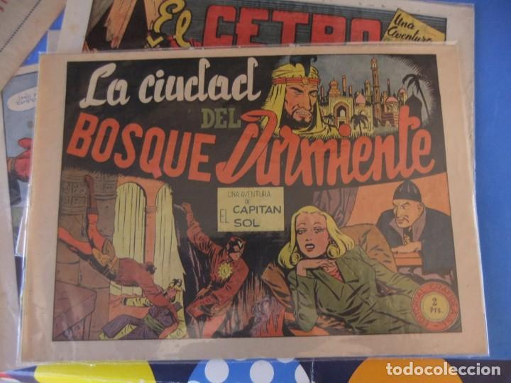 Tebeos: EL CAPITAN SOL LOTE DE 5 NUMEROS ORIGINALES EDITORIAL GRAFIDEA - Foto 4 - 165941562