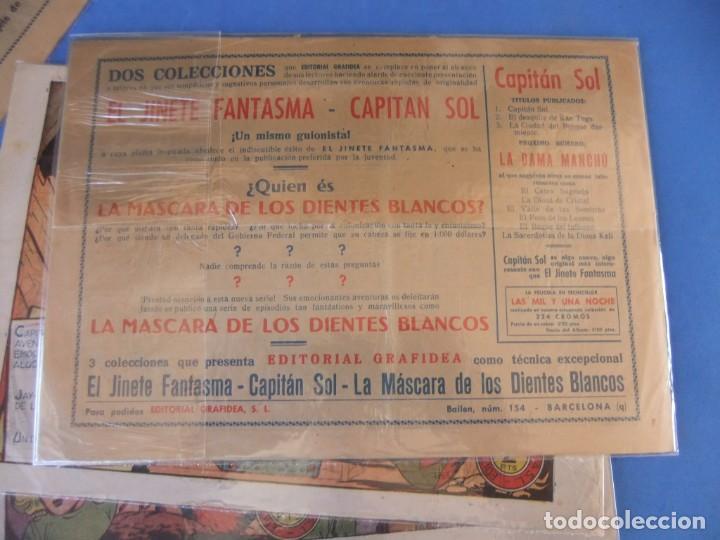 Tebeos: EL CAPITAN SOL LOTE DE 5 NUMEROS ORIGINALES EDITORIAL GRAFIDEA - Foto 5 - 165941562
