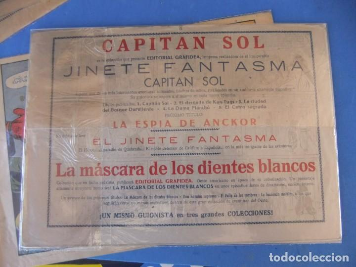Tebeos: EL CAPITAN SOL LOTE DE 5 NUMEROS ORIGINALES EDITORIAL GRAFIDEA - Foto 7 - 165941562
