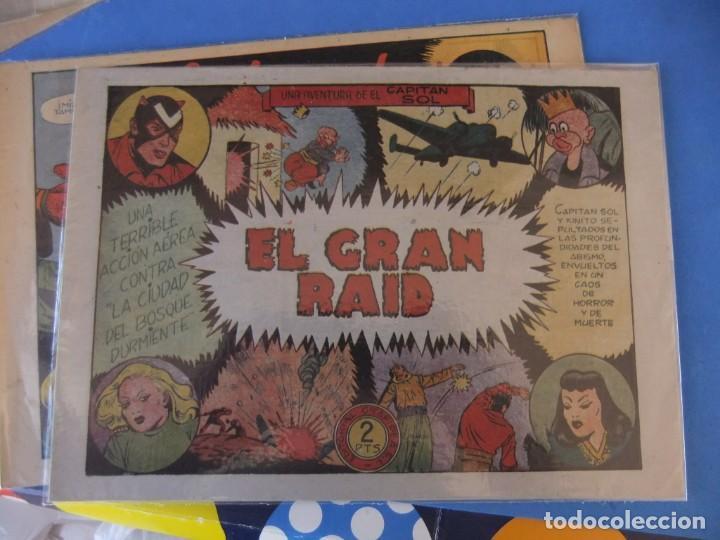 Tebeos: EL CAPITAN SOL LOTE DE 5 NUMEROS ORIGINALES EDITORIAL GRAFIDEA - Foto 8 - 165941562
