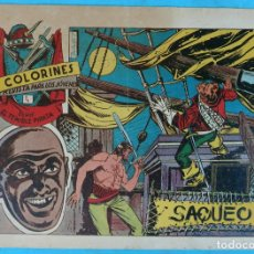 Tebeos: COLORINES , SERIE TEMIBLE PIRATA , Nº 4 , SAQUEO , ANTIGUO , ORIGINAL , CT1. Lote 167829200