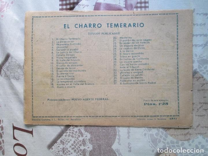 Tebeos: EL CHARRO TEMERARIO Nº 37 - Foto 2 - 173237737