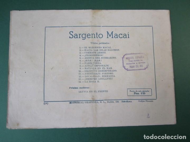 Tebeos: SARGENTO MACAI (1952, GRAFIDEA) 14 · 1952 · LA HORA H - Foto 2 - 173656133