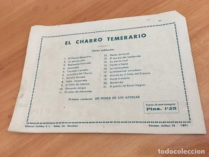 Tebeos: EL CHARRO TEMERARIO Nº 21 EL PATRON DE ROCAS NEGRAS (ORIGINAL GRAFIDEA) (COIB25) - Foto 2 - 173819919