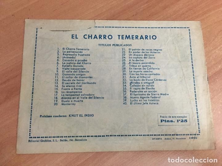 Tebeos: EL CHARRO TEMERARIO Nº 40 (ORIGINAL GRAFIDEA) (COIB26) - Foto 2 - 173939963