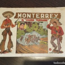Tebeos: MONTERREY CON EL CHARRO TEMERARIO, NUMERO 20. EDITORIAL GRAFIDEA. . Lote 176173629