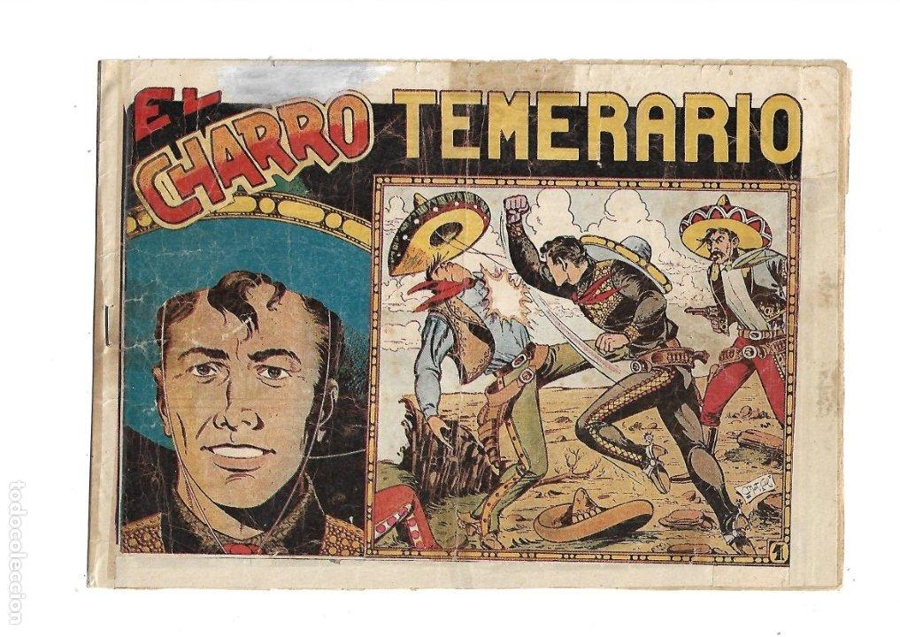 EL CHARRO TEMERARIO, AÑO 1953 COLECCIÓN COMPLETA SON 44 TEBEOS ORIGINALES Y MUY DIFICIL DE CONSEGIR. (Tebeos y Comics - Grafidea - El Charro Temerario)