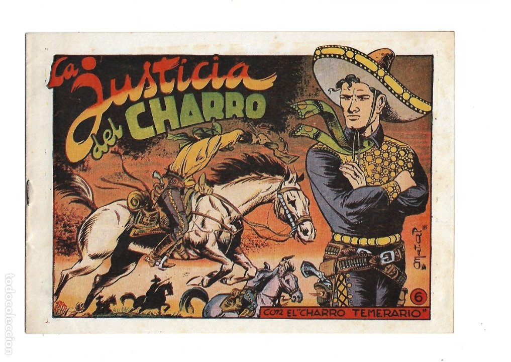 Tebeos: El Charro Temerario, Año 1953 Colección Completa son 44 Tebeos Originales y muy dificil de consegir. - Foto 6 - 177732825