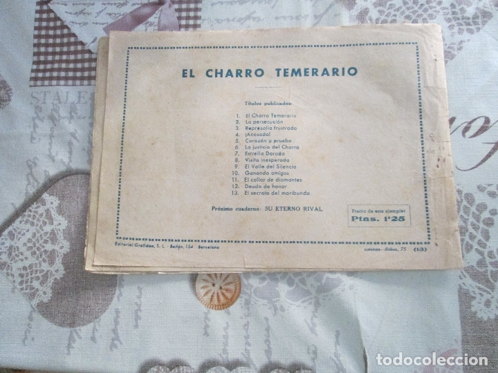 Tebeos: EL CHARRO TEMERARIO Nº 13 - Foto 2 - 177781442