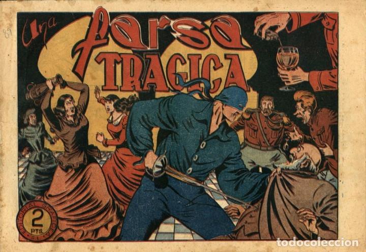 EL JINETE FANTASMA-89: UNA FARSA TRAGICA (GRAFIDEA, 1947) DE AMBRÓS Y AMORÓS (Tebeos y Comics - Grafidea - El Jinete Fantasma)