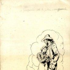 Tebeos: ATHOS COZZI: ORIGINAL DE EL AGUILA DE FUEGO (EDITORIAL ESPAÑOLA, 1942) 35X24 CMS.. Lote 184880740