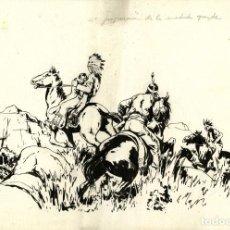 Tebeos: ATHOS COZZI: ORIGINAL DE EL AGUILA DE FUEGO (EDITORIAL ESPAÑOLA, 1942) 35X24 CMS.. Lote 184880880