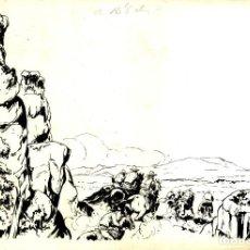 Tebeos: ATHOS COZZI: ORIGINAL DE EL AGUILA DE FUEGO (EDITORIAL ESPAÑOLA, 1942) 35X24 CMS.. Lote 184880998