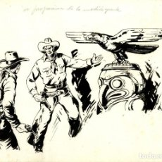 Tebeos: ATHOS COZZI: ORIGINAL DE EL AGUILA DE FUEGO (EDITORIAL ESPAÑOLA, 1942) 35X24 CMS.. Lote 184881103