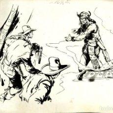 Tebeos: ATHOS COZZI: ORIGINAL DE EL AGUILA DE FUEGO (EDITORIAL ESPAÑOLA, 1942) 35X24 CMS.. Lote 184881190