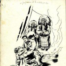 Tebeos: ATHOS COZZI: ORIGINAL DE EL AGUILA DE FUEGO (EDITORIAL ESPAÑOLA, 1942) 35X24 CMS,. Lote 184881303