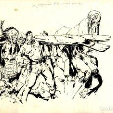 Tebeos: ATHOS COZZI: ORIGINAL DE EL AGUILA DE FUEGO (EDITORIAL ESPAÑOLA, 1942) 35X24 CMS,. Lote 184881426