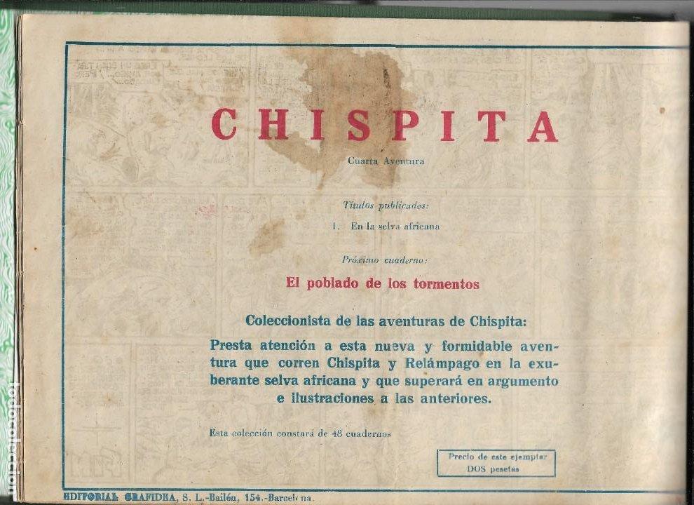 Tebeos: Chispita 4ª Aventura Año 1953 Colección Completa son 48 Tebeos Originales encuadernados en 2 tomos - Foto 2 - 191159746