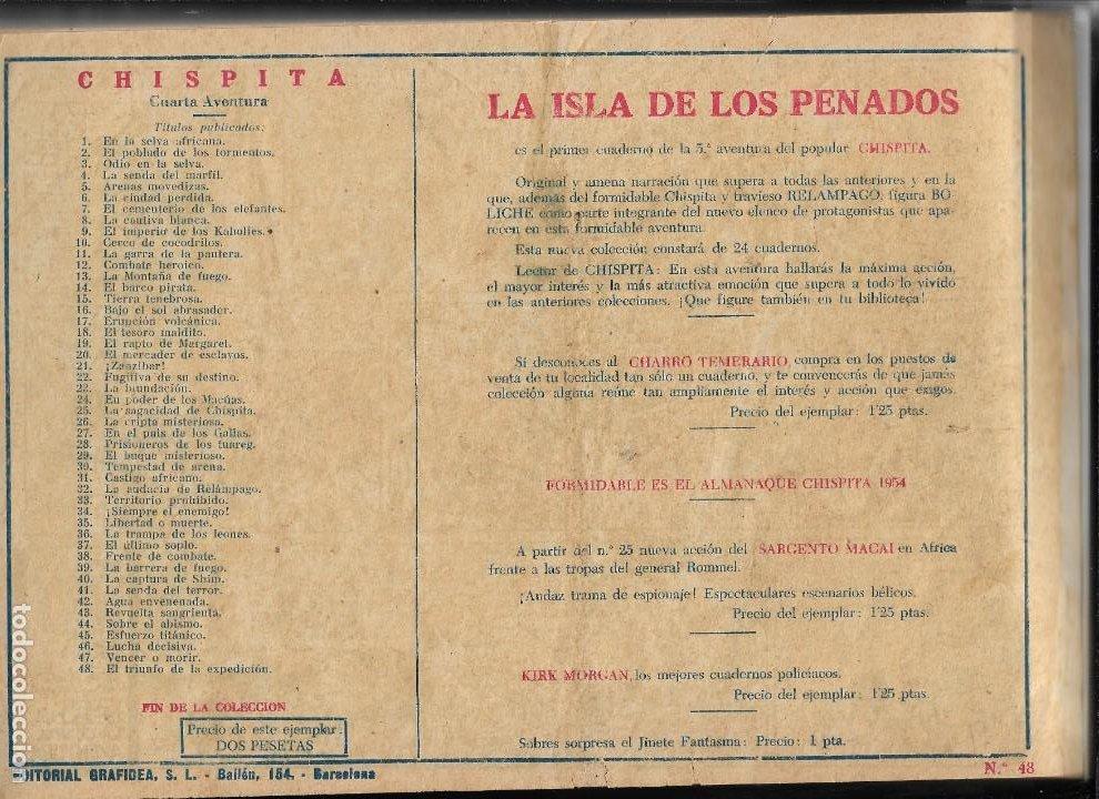 Tebeos: Chispita 4ª Aventura Año 1953 Colección Completa son 48 Tebeos Originales encuadernados en 2 tomos - Foto 4 - 191159746