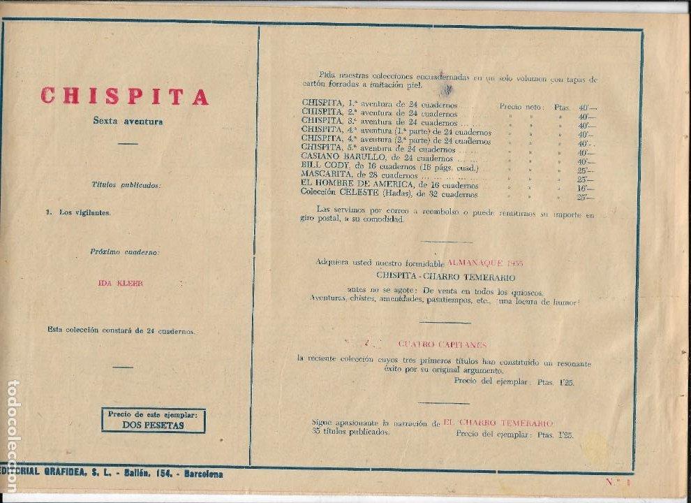 Tebeos: Chispita 6ª Aventura Año 1955 Colección Completa son 24 Tebeos Originales Encuadernado en tomo - Foto 2 - 191288757
