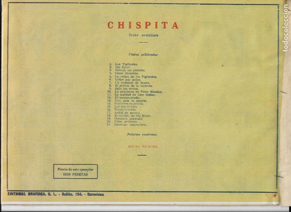 Tebeos: Chispita 6ª Aventura Año 1955 Colección Completa son 24 Tebeos Originales Encuadernado en tomo - Foto 26 - 191288757