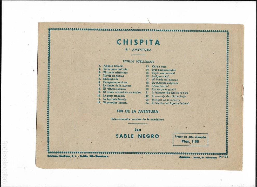 Tebeos: Chispita 8ª Aventura Año 1956 Colección Completa son 24 Tebeos Originales muy dificiles - Foto 4 - 191356811