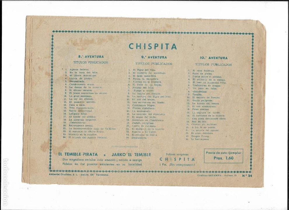 Tebeos: Chispita 10ª Aventura Año 1958 Colección Completa son 24 Tebeos Originales muy dificiles - Foto 4 - 191357742