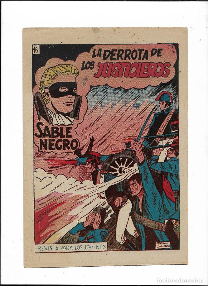 SABLE NEGRO AÑO 1957 Nº 16 ES ORIGINAL EL ÚLTIMO DE LA COLECCIÓN Y NUEVO DIBUJOS DE ÁNGEL SALMERÓN (Tebeos y Comics - Grafidea - Otros)