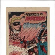 Tebeos: SABLE NEGRO AÑO 1957 Nº 16 ES ORIGINAL EL ÚLTIMO DE LA COLECCIÓN Y NUEVO DIBUJOS DE ÁNGEL SALMERÓN. Lote 204197750