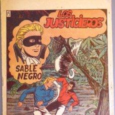 BDs: COM-237. SABLE NEGRO. NÚMERO 15: LOS JUSTICIEROS. EDITORIAL GRAFIDEA. ORIGINAL. AÑO 1957.. Lote 207783602