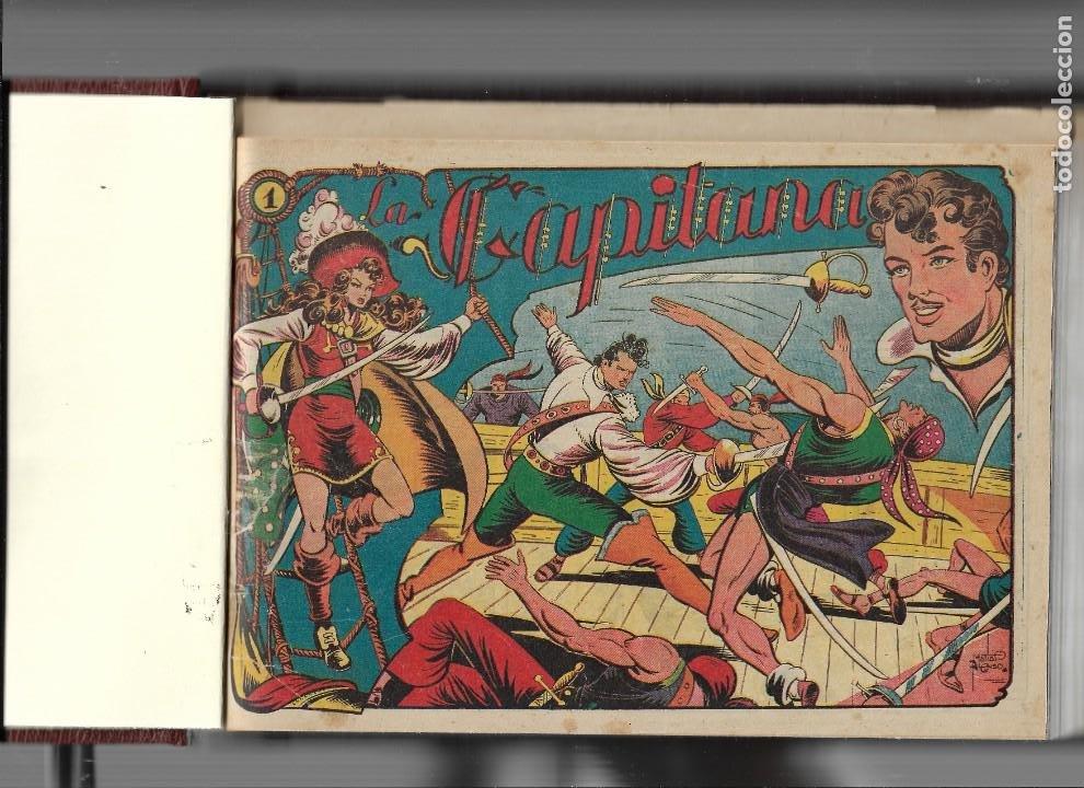 LA CAPITANA AÑO 1953 COLECCIÓN COMPLETA SON 44 TEBEOS ORIGINALES ENCUADERNADO EN TOMO NUEVO. (Tebeos y Comics - Grafidea - El Charro Temerario)