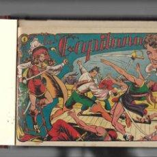 Tebeos: LA CAPITANA AÑO 1953 COLECCIÓN COMPLETA SON 44 TEBEOS ORIGINALES ENCUADERNADO EN TOMO NUEVO.. Lote 217506248