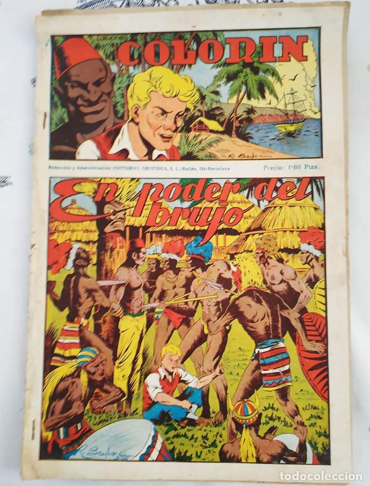 COLORIN ED GRAFIDEA 1946 N,º 3 EL PODER DEL BRUJO CON ESTAMPAS ALI-BABA N.º 17/24 (Tebeos y Comics - Grafidea - Otros)