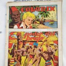 Tebeos: COLORIN ED GRAFIDEA 1946 N,º 3 EL PODER DEL BRUJO CON ESTAMPAS ALI-BABA N.º 17/24. Lote 218643656
