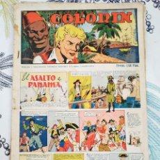 Tebeos: COLORIN ED GRAFIDEA 1946 N,º 9 EL ASALTO A PANAMA ULTIMO CON ESTAMPAS ALI-BABA N.º 65/72. Lote 218643860