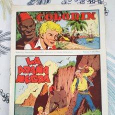 Tebeos: COLORIN ED GRAFIDEA 1946 N,º 1 LA ARAÑA NEGRA CON ESTAMPAS ALI-BABA N.º 1/8. Lote 218643992