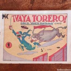 Tebeos: TEBEO N 2 - ¡ VAYA TORERO ! CON EL JINETE FANTASMA- NÚMERO 2 - CÓMICO - EDITORIAL GRAFIDEA. Lote 219180816