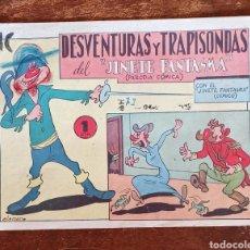Tebeos: TEBEO N 1 - DESAVENTURAS Y TRAPISONDAS CON EL JINETE FANTASMA- NÚMERO 1- CÓMICO - EDITORIAL GRAFIDEA. Lote 219181148